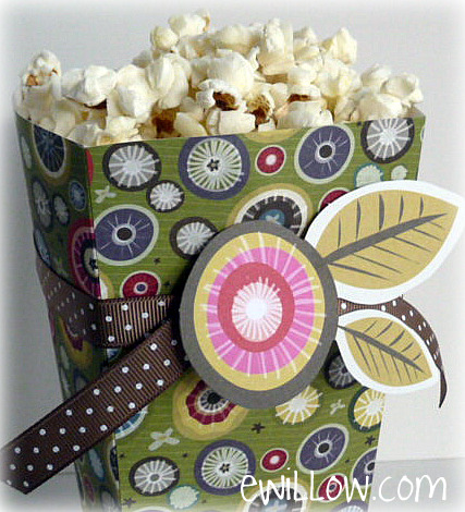 popcorn box template for a