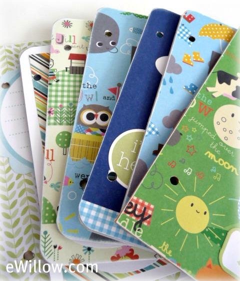 Sussex Circle Paperworks: Handmade Baby Shower Scrapbook