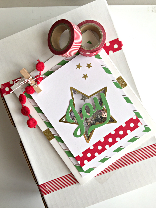 quick christmas gift wrap idea